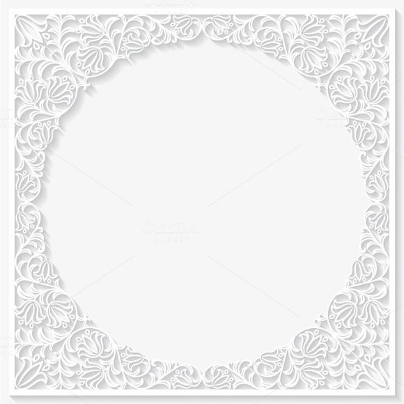 Set Of Paper Floral Frames