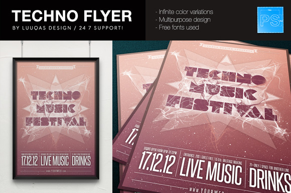 Techno Flyer Poster