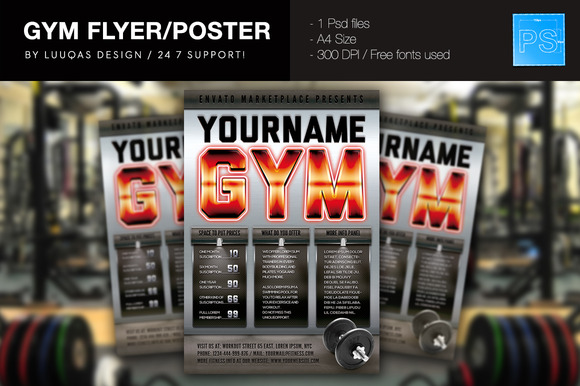 Gym Flyer Poster