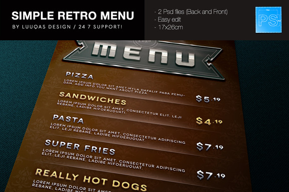 Simple Retro Menu