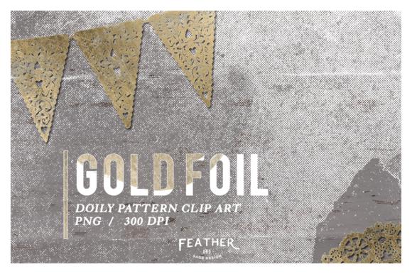 Vintage Gold Foil Doily Clip Art