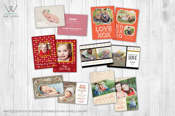 Valentine 5x7 Card Bundle-Photoshop