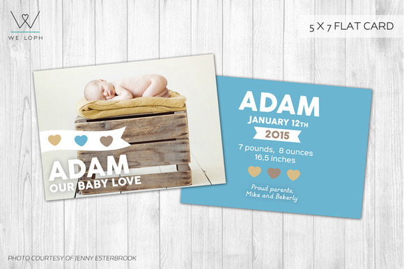 New Born Card Template Baby Box