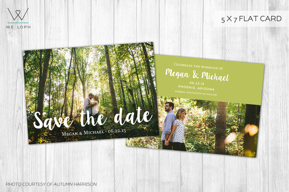 Save The Date Template Photoshop