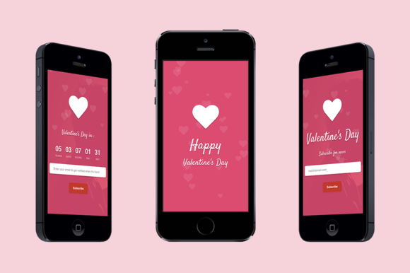 Valentine Responsive Landing Page