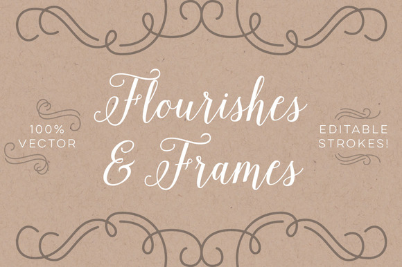 Vector Flourishes And Frames