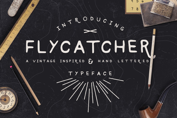 Flycatcher Hand Drawn Font Package