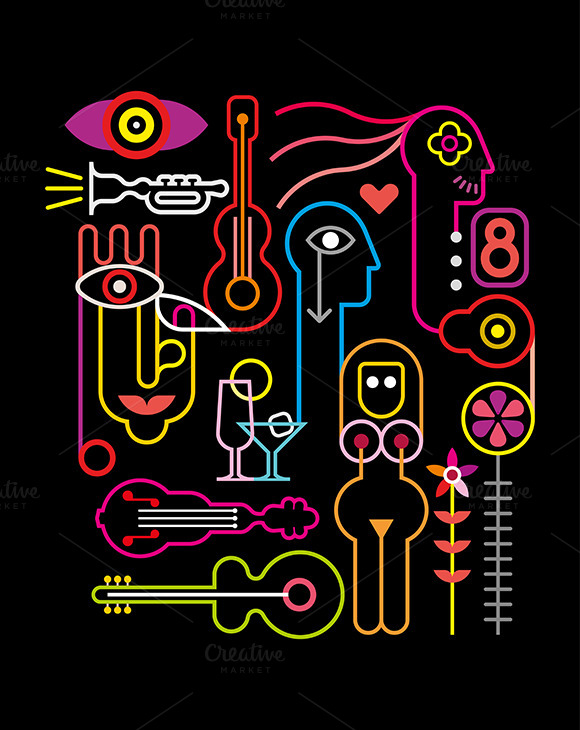 Abstract Neon Illustration
