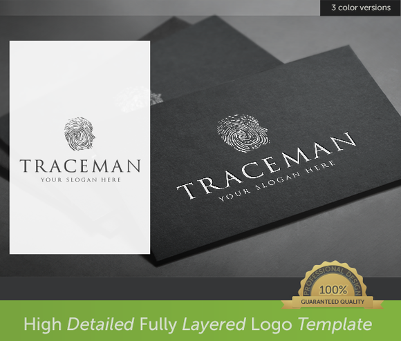 Trace Man Logo Template