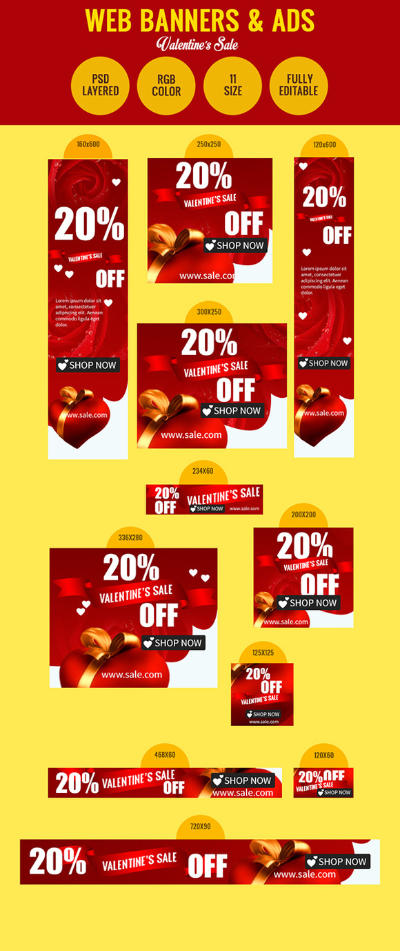 Valentine S Day Sale Banners