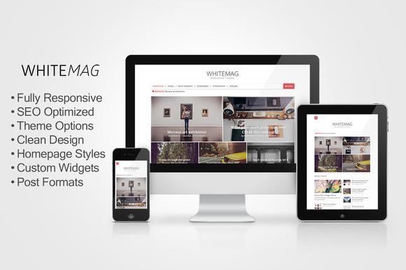 WhiteMag Responsive Magazine Theme