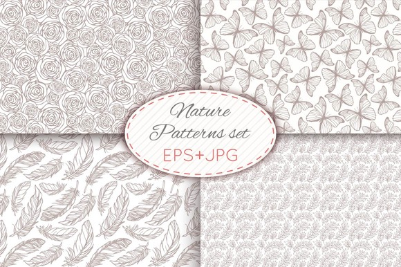 28 Nature Seamless Patterns Set