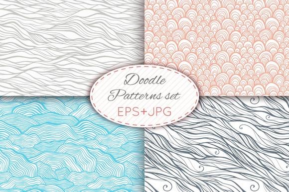 28 Doodle Seamless Patterns Set