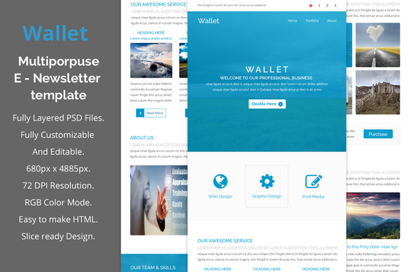 Wallet Multiporpuse Email Template