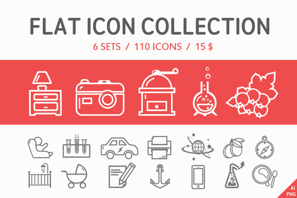 110 Flat Icon Collection