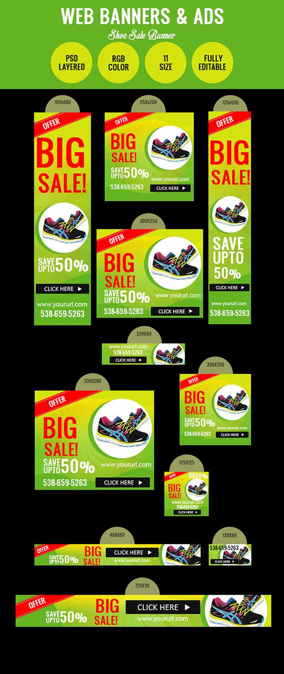 Shoe Sale Banner Design