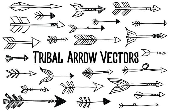 Tribal Arrow Vectors