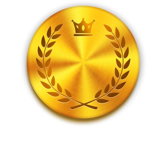 Textured Golden Metal Button