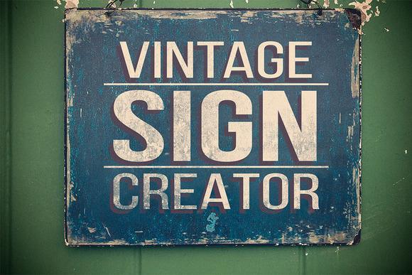 Vintage Sign Creator