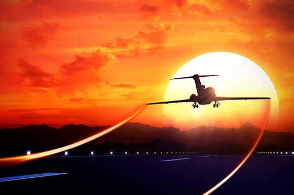 Jet Passenger Plane Taking Off