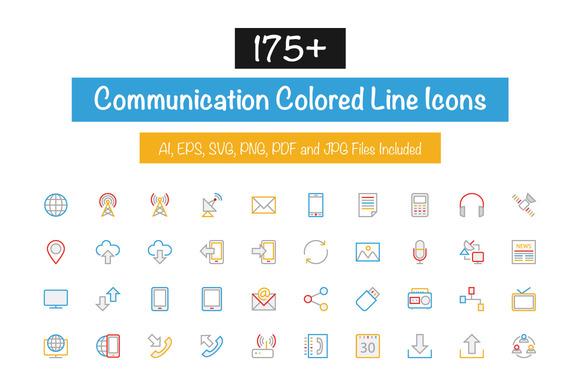 175 Communication Colored Line Icon