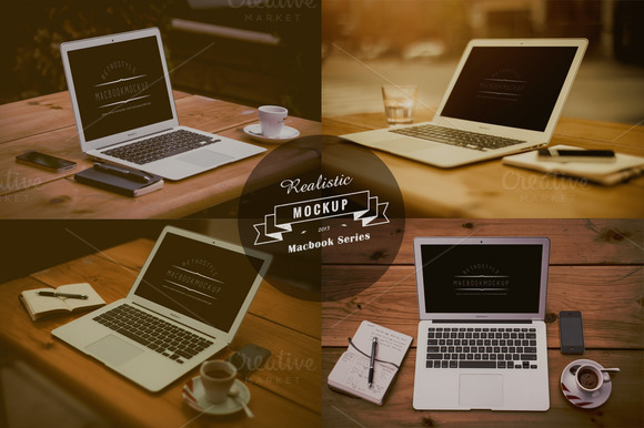 Realistic Macbook Mockup Design