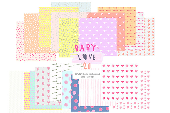 BABY LOVE- Cute Valentine Background