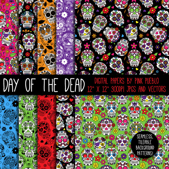 Day Of The Dead Skulls Patterns