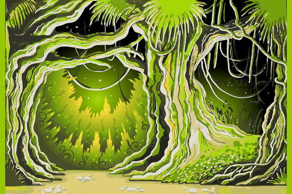 Magic Tale Forest Background
