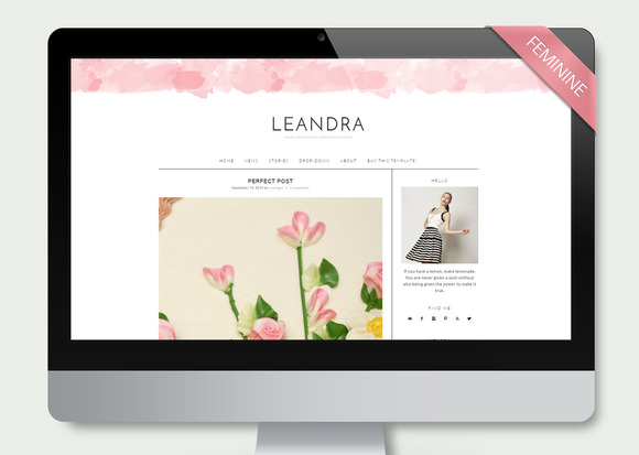 Leandra Wordpress Theme Blog