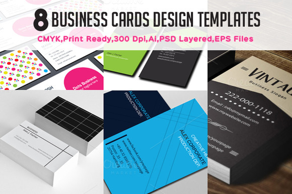 8 Business Card Templates