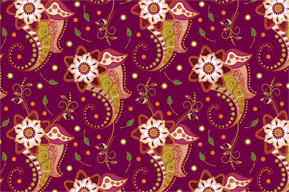 2 Floral Seamless Patterns