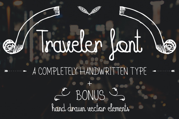 Traveler Font BONUS Pack