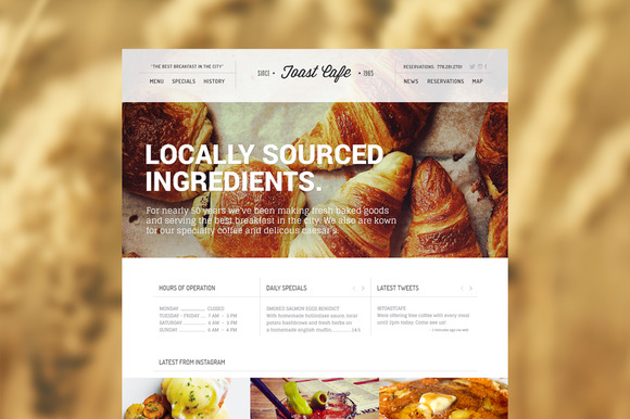Toast Cafe Wordpress Theme