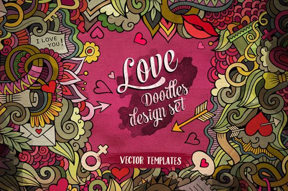 Love Doodles Design Pack