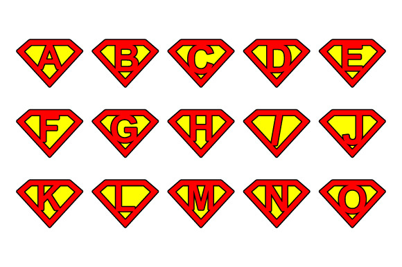 Super Alphabet Letters Rounded
