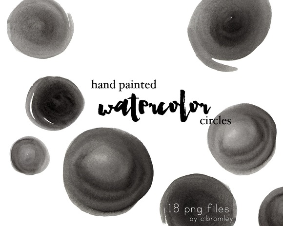 Hand Painted Watercolor Circles