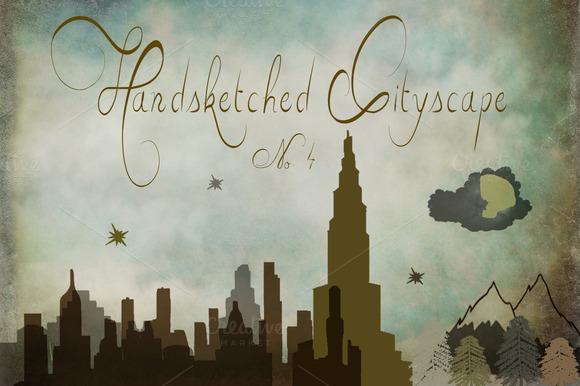 Handsketched Cityscape Clipart Set 4
