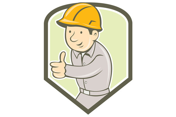 Builder Construction Worker Thumbs U