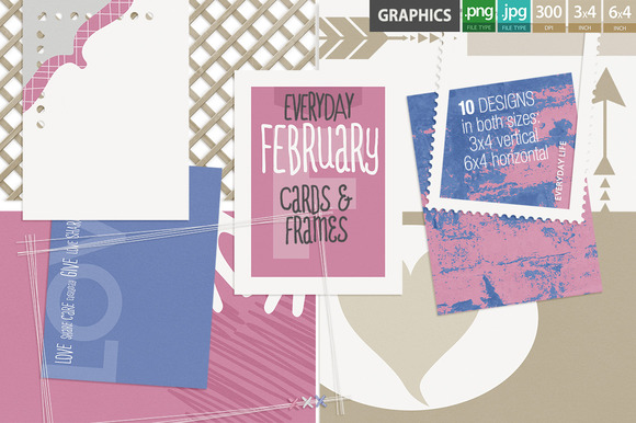 Everyday February Pocket Cards