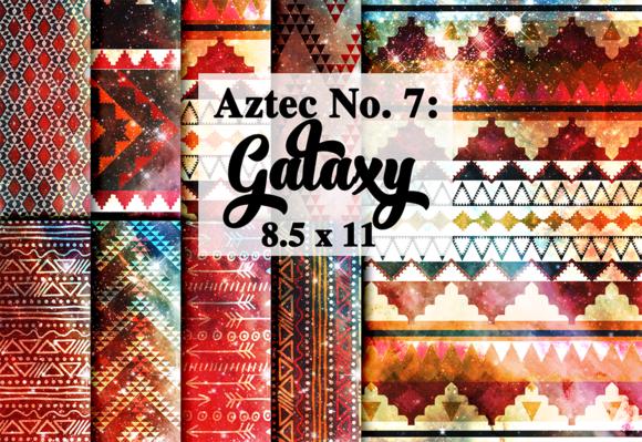 Tribal Aztec Galaxy Digital Paper