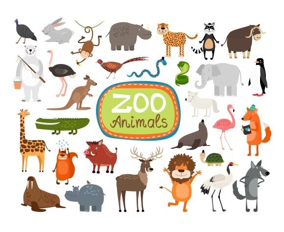 Vector Zoo Animals