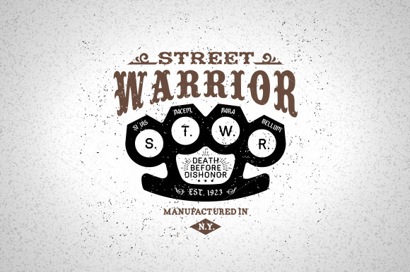 Vintage Label Street Warrior