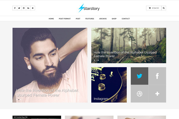 StarStory Blog Shop PSD Template