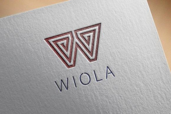 Wiola W Letter Logo