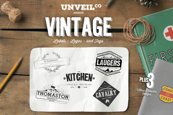 Vintage Labels Logos Tags