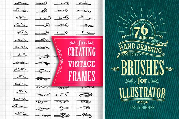Vintage Frames Brushes