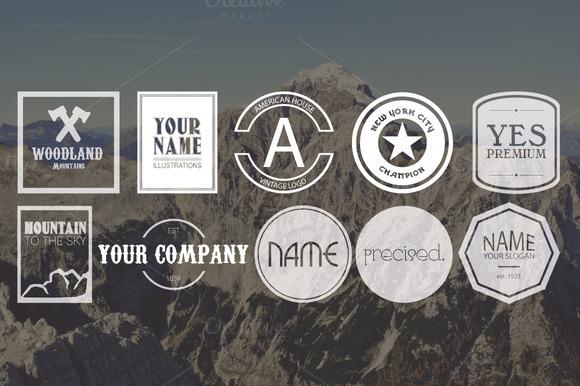 10 Vintage Logos Bundle