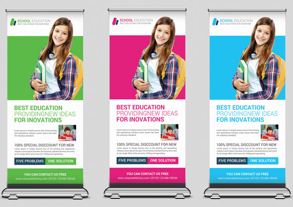 School Rollup Banners