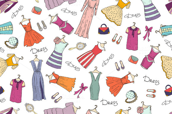 Pattern With Fashionable Dresses